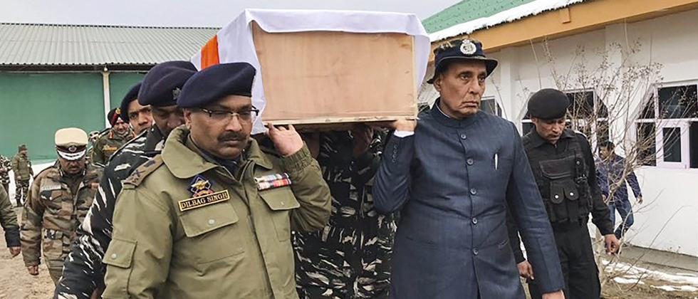 Home minister among pallbearers as force pays tributes to slain CRPF jawans