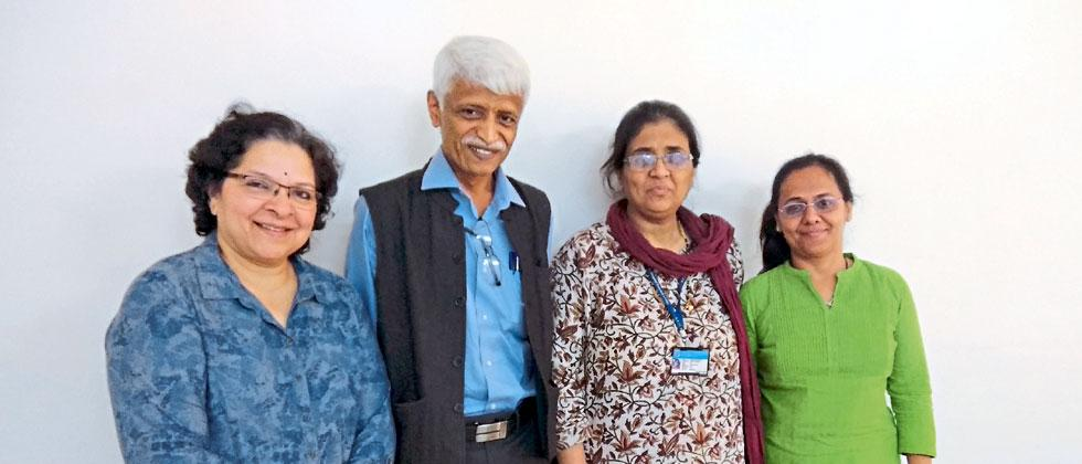 (L to R)- Dr Ujjawal Nene, Dr Vasudeo Parlikar, Dr Laila Garda and Varsha Pol from the Primary Prevention of Sexual Violence Against Children at KEM Hospital Research Center.