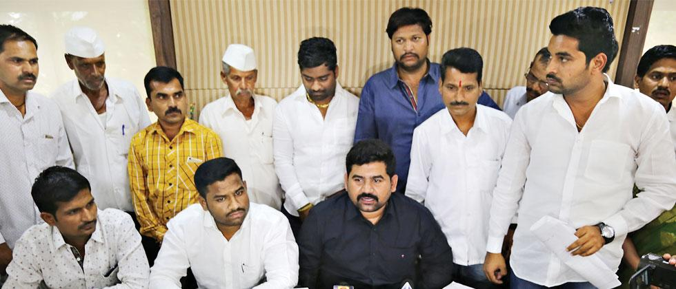 Mhalunge villagers, in a press interaction at Patrakar Bhavan, claim that they are being cheated by the PMRDA, by developing a model township