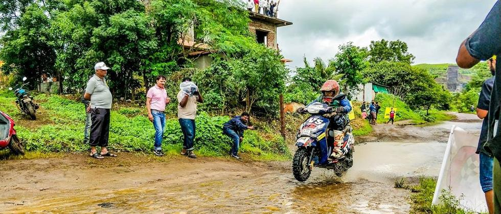 Venkatesh wins JK Tyre Monsoon Scooter Rally