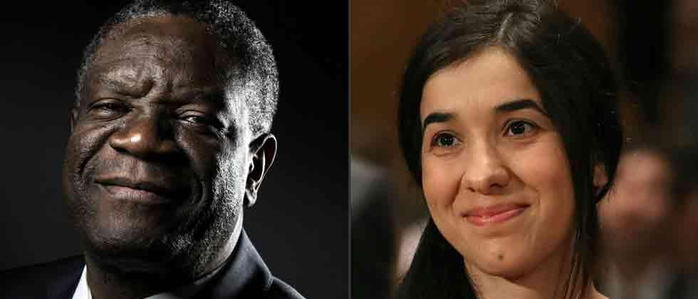 Nobel Peace Prize honours champions of fight against sexual violence