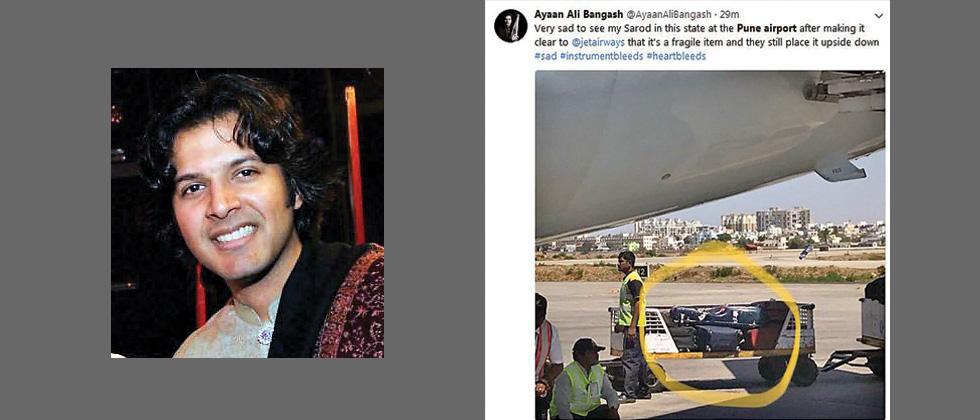 Ayaan Ali's sarod mishandled by Jet Airways staff at Pune airport