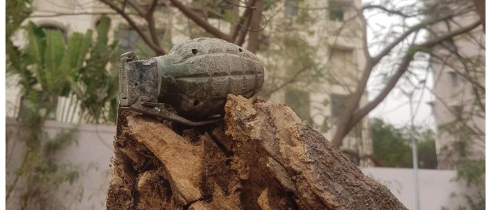 Live hand grenade found in garden