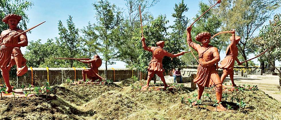 Malusare memorial restoration work inaugurated on Sinhagad