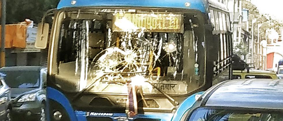 Protesters vandalise 8 PMPML buses
