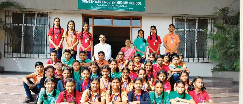 Someshwar School shines in elementary drawing examination