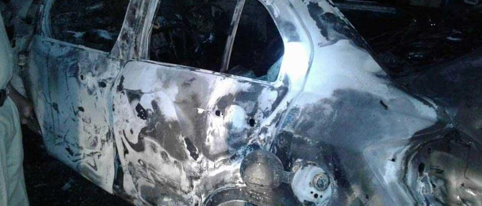 Three person charred to death after car catches fire
