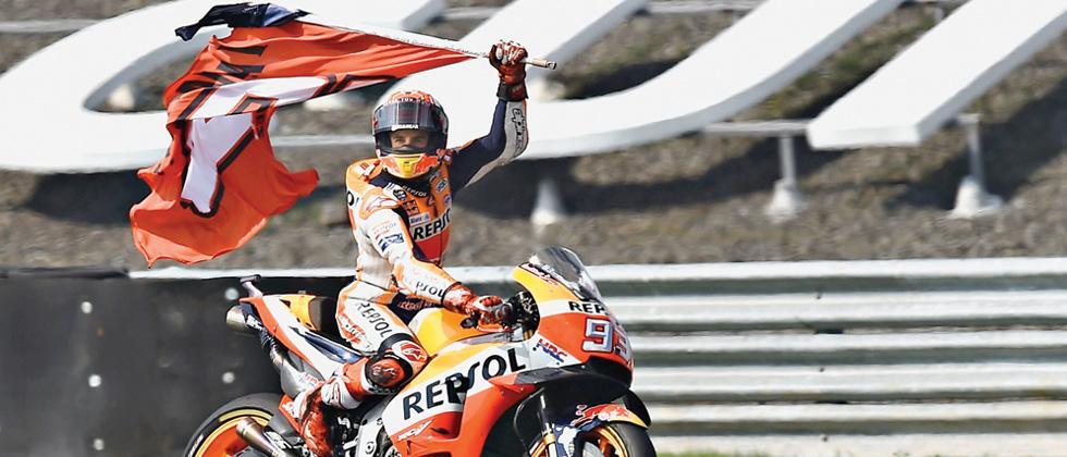 Honda rider Marquez triumphs