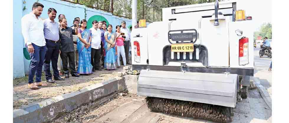 Smart mechanised street sweeping project launched in Aundh