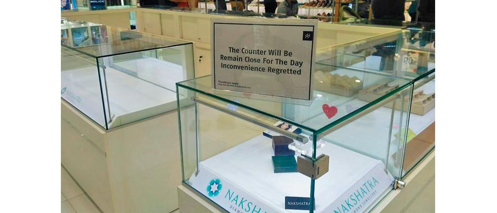 A team from the Enforcement Directorate raided the Nakshatra diamond counter at a mall in Aundh on Sunday.