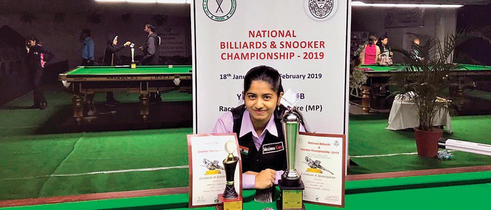 Silver finish for Arantxa in snooker nationals