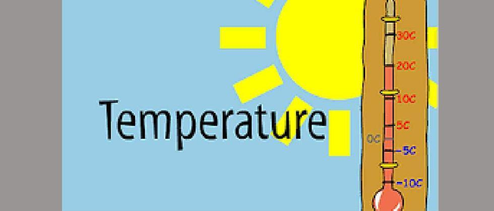 Cold breeze leads to fall in day temp