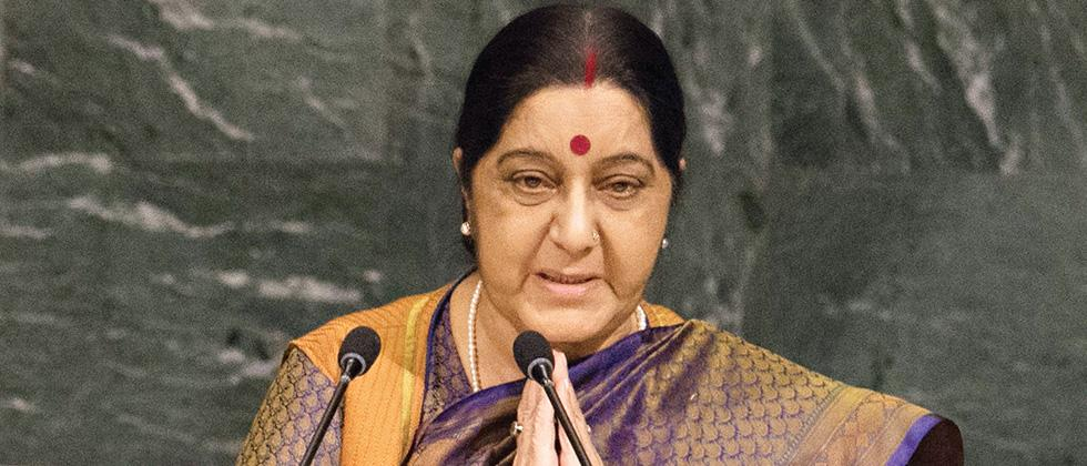 Sushma Swaraj hits out at Pakistan