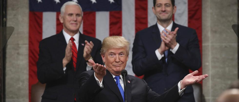 Patriotism, America First mark Trump's State of Union address