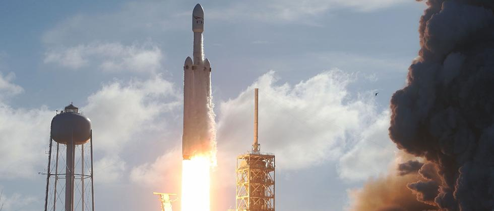 SpaceX launches worlds most powerful rocket