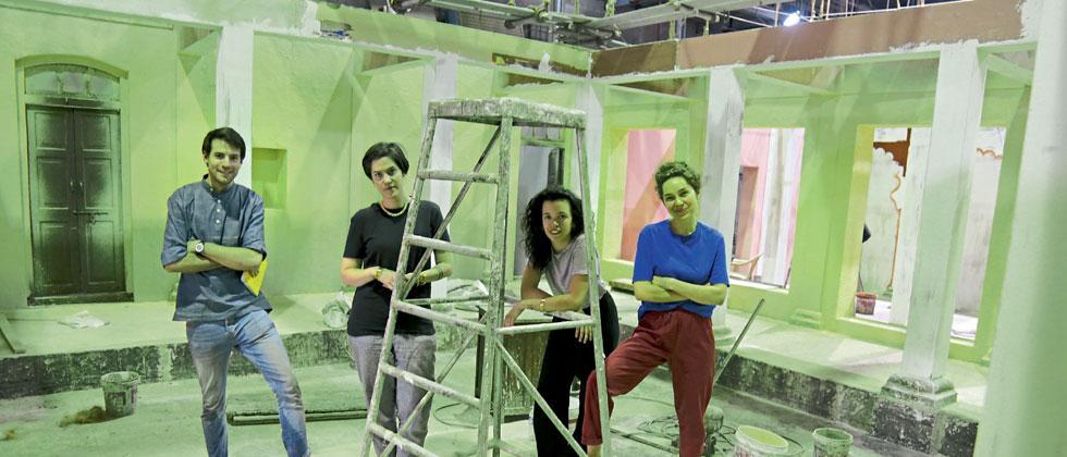 Magalie Biard, Valentine Gauthier, Luce Jalbert and Martin Rebufello from La Fmis institute, Paris