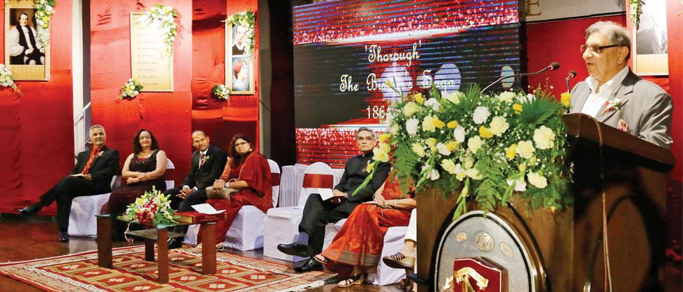 Dignitaries at the book launch of 'Thorough - The Bishop's Saga'. Parag Jadhav/Sakal Times