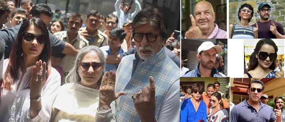 Bollywood stars cast vote; among them Big B, SRK, Deepika