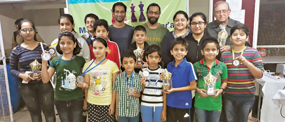 Chinmay wins weekly chess for 7th time