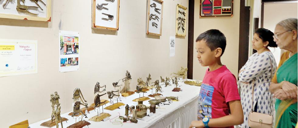 A young boy observes the collection of rare mapel pins at the three-day International Collectors Society of Rare Items, Pune exhibition which was inaugurated on Friday. The exhibition is on till Sunday at Balgandharva Kalamandal