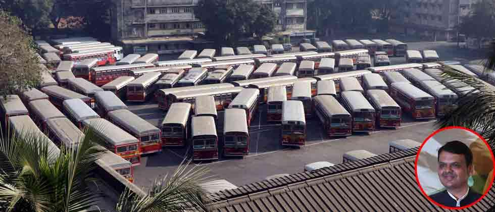 Maha CM speaks to Sena chief over ongoing Mumbai BEST bus stir