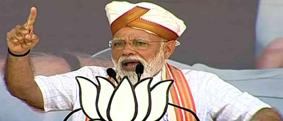 Modi blames Cong for Pak creation, slams 'chowkidar chor' jibe