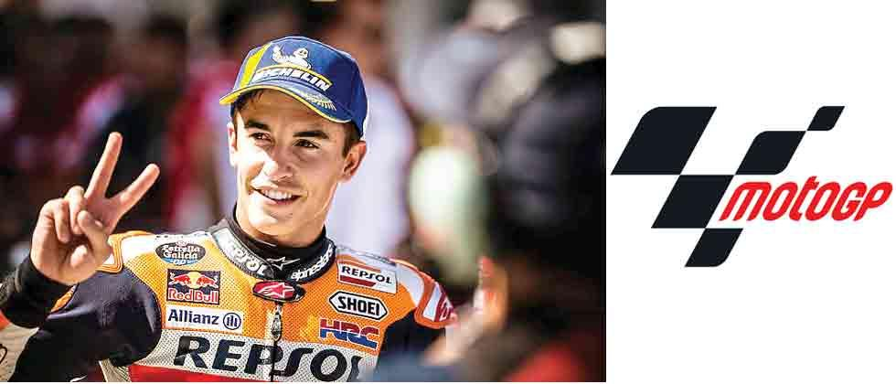 Marquez overcomes storms to take pole