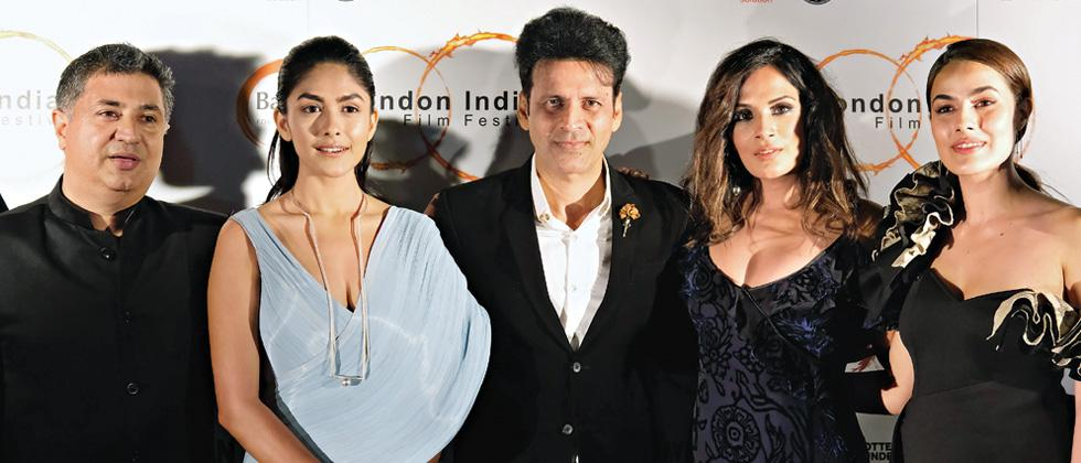 Richa wins the Outstanding Achievement Award at the London Indian Film Festival!