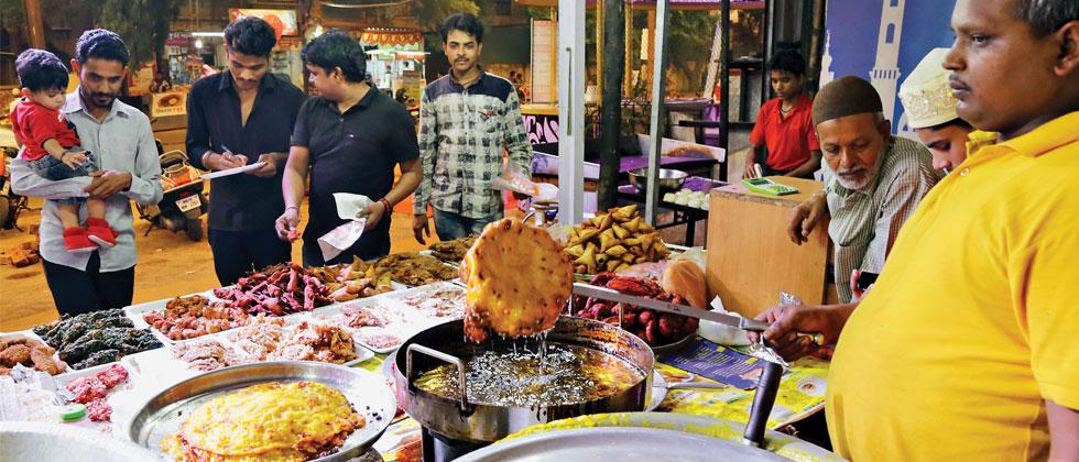 The lanes in Kondhwa offer a variety of food items during the month of Ramzan