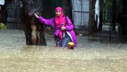 Rains water logging at Hindamata-Dadar East on Tuesday