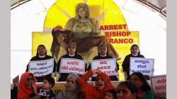 Indian Christian nuns and Muslim supporters protest as they demand the arrest of Bishop Franco Mulakkal, who is accused of raping a nun, outside the High Court in Kochi in the southern Indian state of Kerala