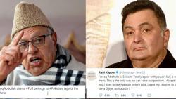 Complaint against Farooq Abdullah, Rishi Kapoor over PoK