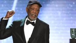 File photo taken on January 21, 2018, Morgan Freeman accepts the Life Achievement Award onstage during the 24th Annual Screen Actors Guild Awards show. Mark Ralston/AFP