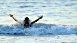 Fire brigade official rescues drowning woman