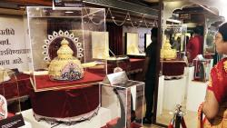 PNG Jewellers display jewellery made from around 40 kg of gold for Dagdusheth Halwai Ganpati.