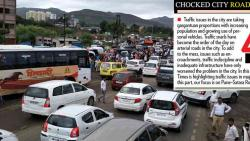 Paralysed BRTS causing traffic chaos on the Pune-Satara Rd