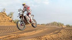 The Hero MotoSports Team rider Joaquim Rodrigues in action.