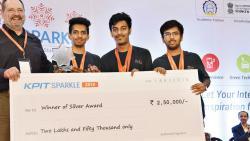Team Nanoknocks from Pune Vidyarthi Griha's College of Engineering receives the silver award