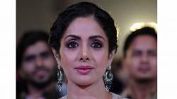 This file photo taken on January 13, 2018 shows Indian Bollywood actress Sridevi Kapoor during the 'Umang Mumbai Police Show 2018' in Mumbai.