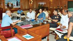 MP Supriya Sule with officials of NDA during a meeting on Wednesday