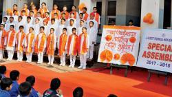 JN Petit School celebrates Shiv Jayanti