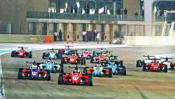 Felipe Drugovich leads the pack as the Brazilian driver won all three races at the Yas Marina Circuit on Friday.