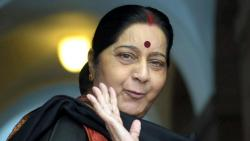 Sushma Swaraj arrives in Thailand