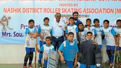 Under-12 Quads category gold medal winning team, Sarthak Mandekar, Shlok Pallod, Ishan Chavan, Siva Kartik, Sarthak Matale, Anish More (sitting from left) Aarush Dhaybar, Jay Jadhav, Apurv Bhangale and Debottam, Piyush pose for a picture.