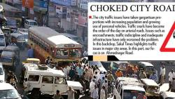 A'nagar Rd hit by encroachments, TOURIST bus hub