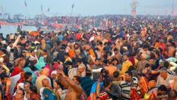 Lakhs of devotees take dip in Ganga on Paush Purnima