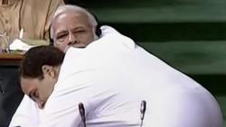 Rahul Gandhi hugs Modi and says this is Congress
