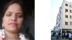 Devibai Pawar and the building from where she was committed suicide