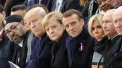 World leaders mark WWI centenary in sombre Paris ceremony
