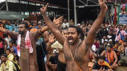 High drama in Sabarimala as 2 women reach hilltop but return due to protests